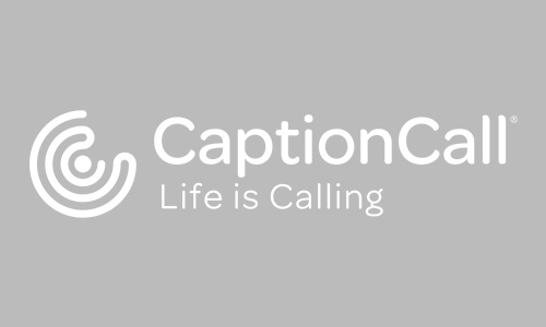 CaptionCall Logo Horizontal Tagline White