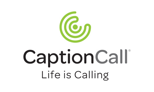 CaptionCall Logo Vertical Tagline Color