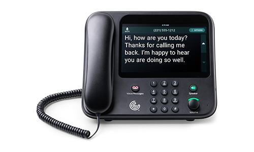 CaptionCall Phone Front